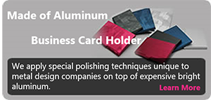 Aluminium business card holder
